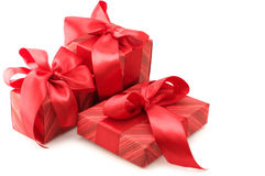 Red gifts Royalty Free Stock Photos
