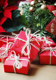 Red gifts Royalty Free Stock Images