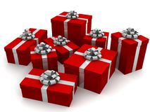 Red gifts Royalty Free Stock Photography