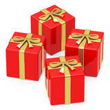 The red gifts Stock Photos