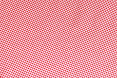 Red Gingham Background. Red gingham patterned fabric background Stock Photo