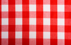 Red Gingham Background. Red and white Gingham or checked tablecloth background Royalty Free Stock Image