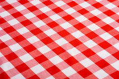 Red Gingham Background. Red and white Gingham or checked tablecloth background Royalty Free Stock Images