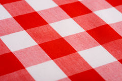 Red Gingham Background. Red and white Gingham or checked tablecloth background Stock Images
