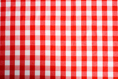 Red Gingham Background Royalty Free Stock Photo