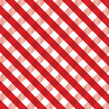 Red gingham background Stock Photography