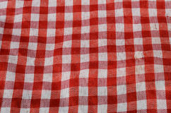 Red Gingham cloth Stock Photo
