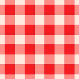 Red Gingham Pattern Seamlessly Tileable. Red and white checkered gingham pattern seamlessly tileable Stock Photos