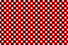 Red Gingham pattern. Texture from rhombus/squares for - plaid, tablecloths, clothes, shirts, dresses, paper, bedding, blankets,. Quilts and other textile royalty free illustration