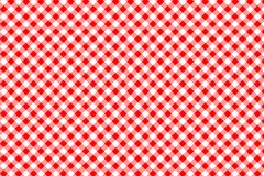 Red Gingham pattern. Texture from rhombus/squares for - plaid, tablecloths, clothes, shirts, dresses, paper, bedding, blankets,. Quilts and other textile vector illustration