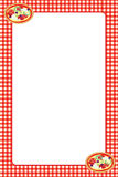 Red Gingham Pizza Frame Royalty Free Stock Photography