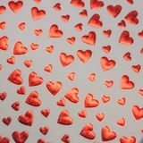 Red Gingham and red Love heart Valentines background royalty free stock photography