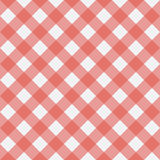 Red Gingham seamless pattern.. Texture from rhombus squares for plaid, tablecloths, clothes, shirts, dresses, paper, bedding, blankets, quilts and other textile Royalty Free Stock Images