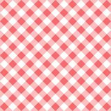 Red gingham seamless pattern. Seamless Checkered seamless Pattern. Red and white tablecloth background. Picnic gingham cloth template. Retro craft art print Stock Images