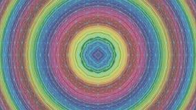 Red giratoria del círculo redondo concéntrico colorido almacen de video