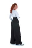 Red Girl In Business Dress Stock Photos