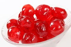 Red Glace Cherries Stock Photos