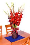 Red gladiolas. Big bouquet with red gladiolas Royalty Free Stock Photos