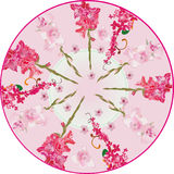 Red gladiolus circle decoration Stock Image