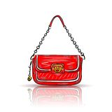Red glamour bag Stock Photo