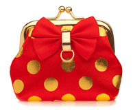 Red glamour purse Stock Photography