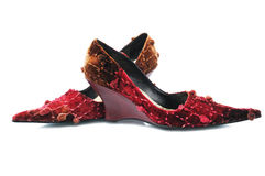 Red glamour shoes Royalty Free Stock Image