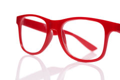 Red glases on white Royalty Free Stock Images