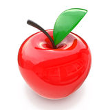 Red glass apple Royalty Free Stock Image