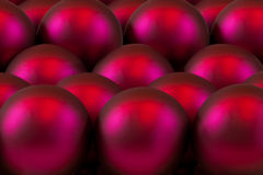 Red glass ball tree ornaments Stock Photography