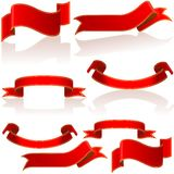 Red glass banners Royalty Free Stock Photography