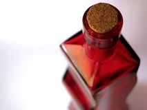Red Glass Bottle #2 Stock Photos