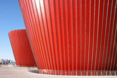 Red glass building Stock Photography