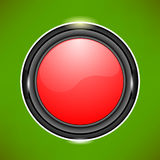 Red Glass Button Royalty Free Stock Image