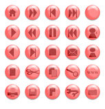 Red Glass Buttons. Buttons for use on a website Royalty Free Illustration