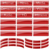 Red Glass Buttons Royalty Free Stock Image