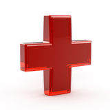 Red Glass Cross Royalty Free Stock Photos