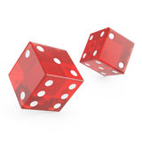 Red glass dice Royalty Free Stock Photography