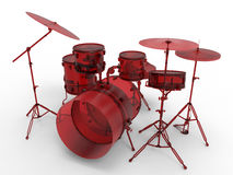 Red glass drum set Stock Images