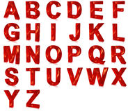 Red glass font Royalty Free Stock Images