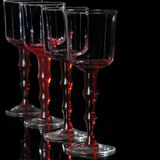 Red glass goblets Royalty Free Stock Photos