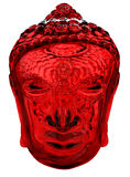 Red Glass Head of Buddha Stock Image