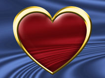Red Glass Heart Stock Photo