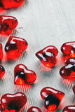 Red glass heart Royalty Free Stock Photo