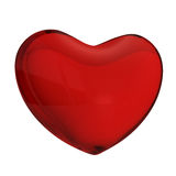 Red glass heart Stock Image
