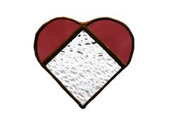 Red Glass Heart Stock Photography
