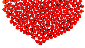 Red glass heart Royalty Free Stock Photos