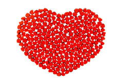 Red glass heart Royalty Free Stock Image