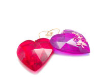 Red Glass Hearts Royalty Free Stock Image