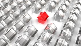 Red Glass House Royalty Free Stock Image