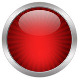 Red glass icon Stock Photography